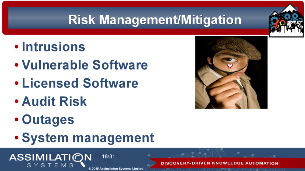 © 2015 Assimilation Systems Limited 18/31 Risk ...