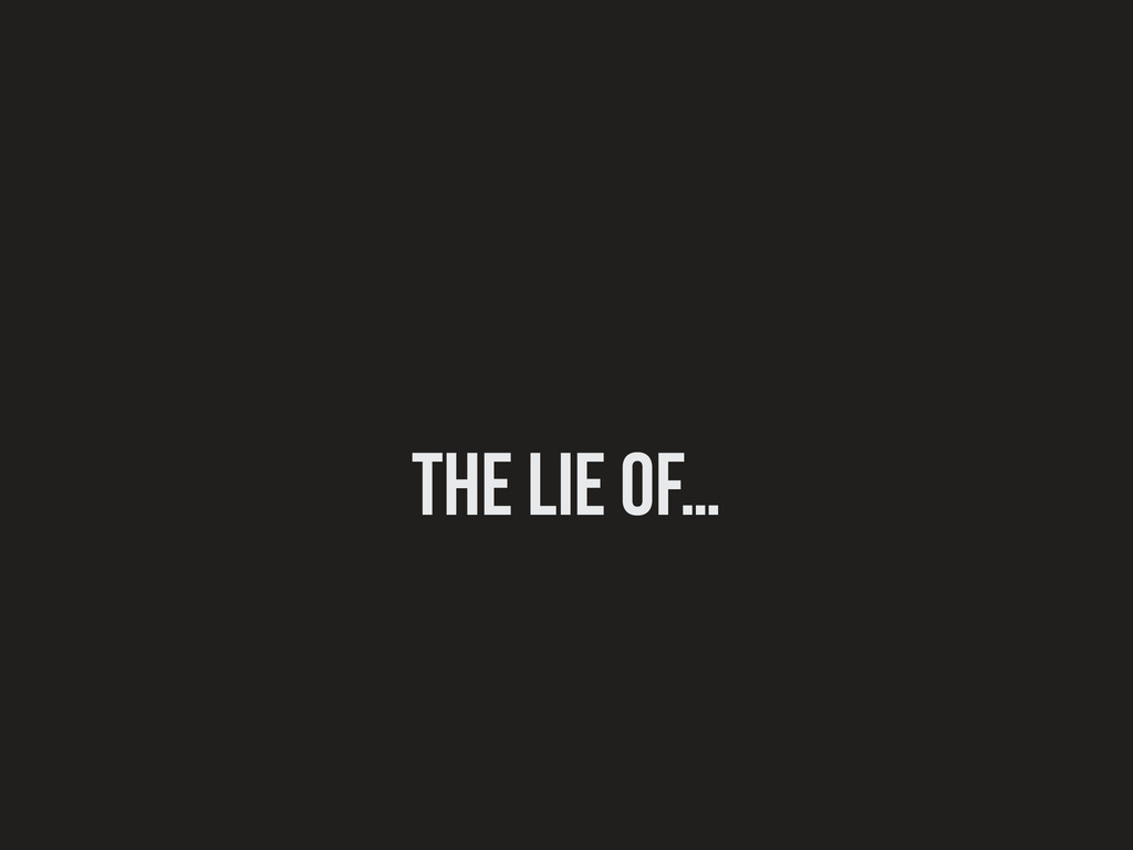 The lie of…