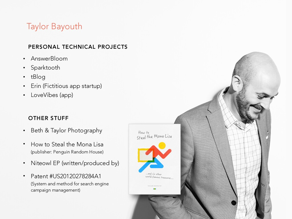 Taylor Bayouth PERSONAL TECHNICAL PROJECTS • An...
