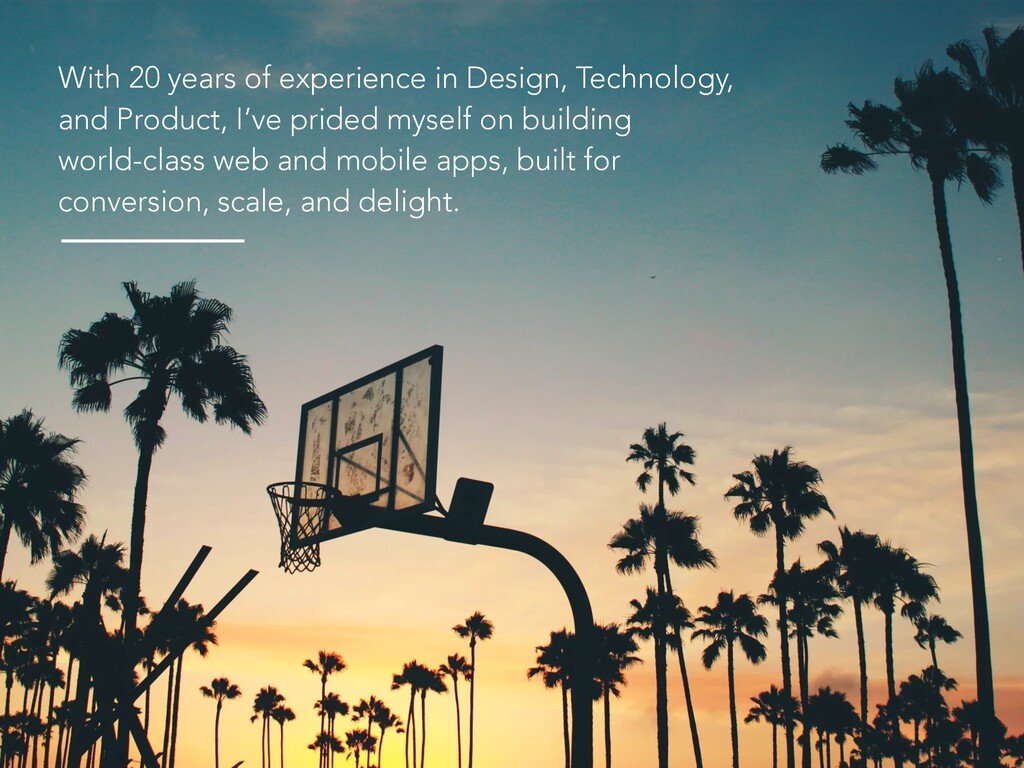 With 20 years of experience in Design, Technolo...