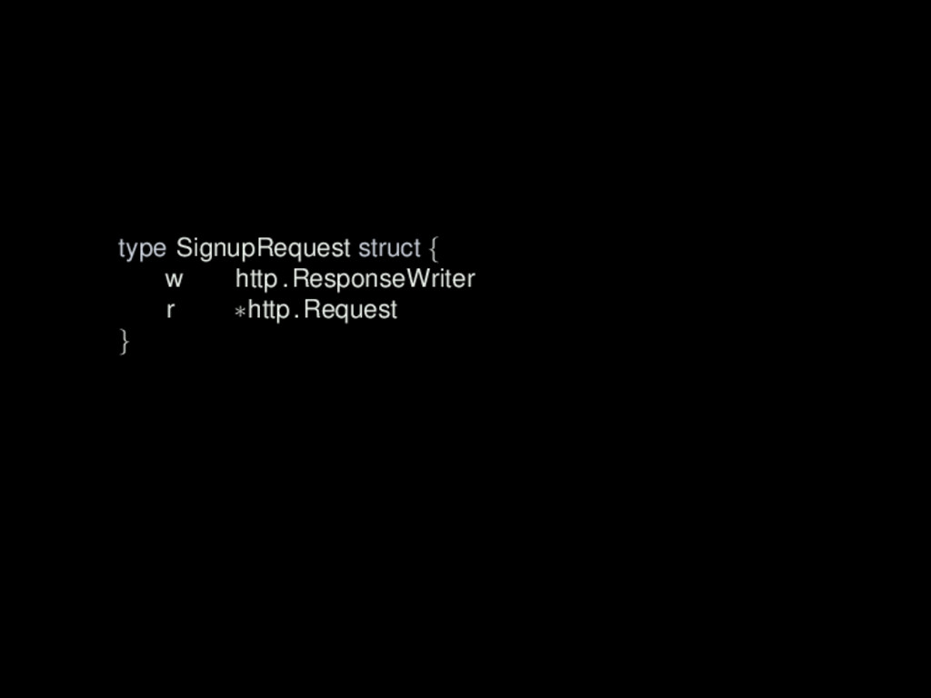 type SignupRequest struct { w http .ResponseWri...