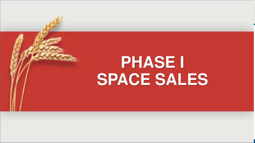 PHASE I SPACE SALES