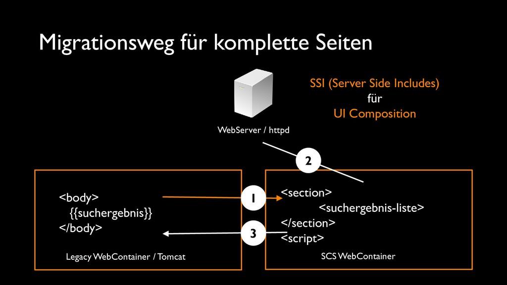 Migrationsweg für komplette Seiten WebServer / ...