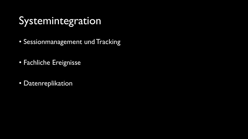 Systemintegration • Sessionmanagement und Track...