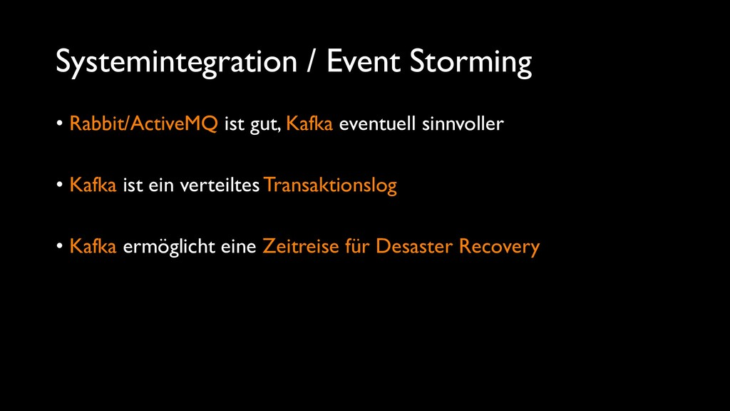 Systemintegration / Event Storming • Rabbit/Act...