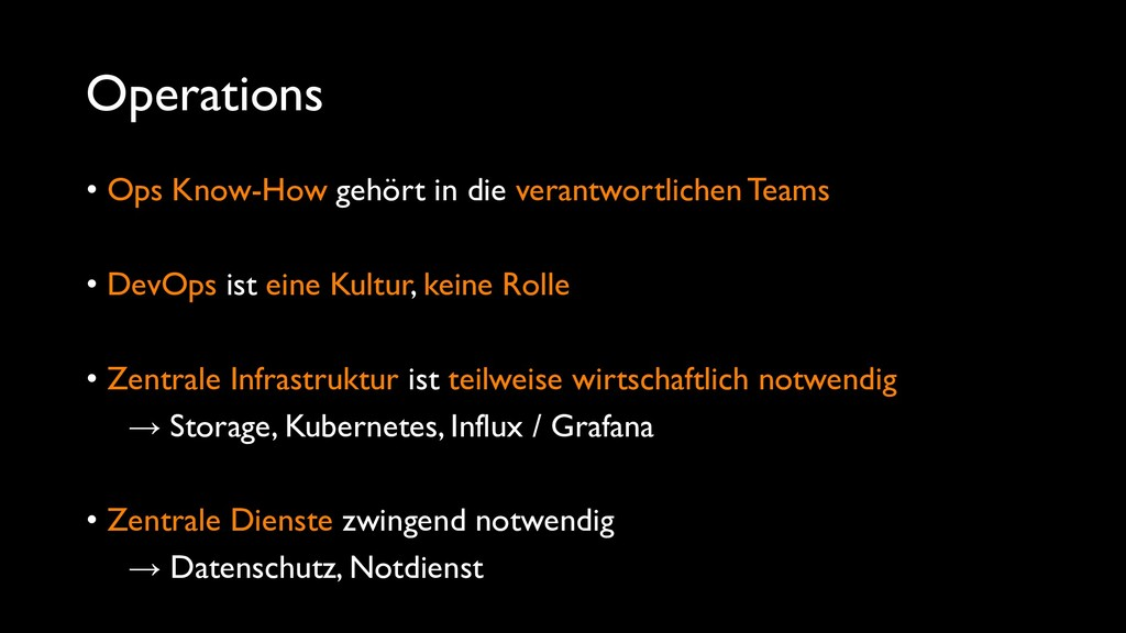 Operations • Ops Know-How gehört in die verantw...
