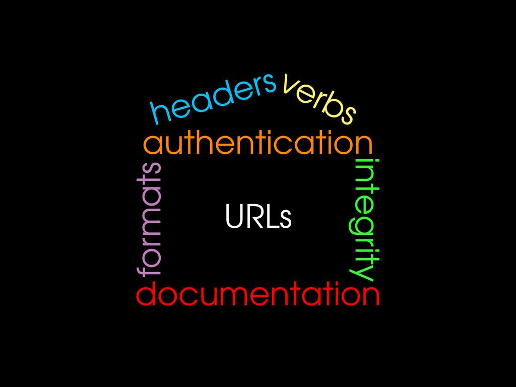 URLs verbs headers authentication formats integ...