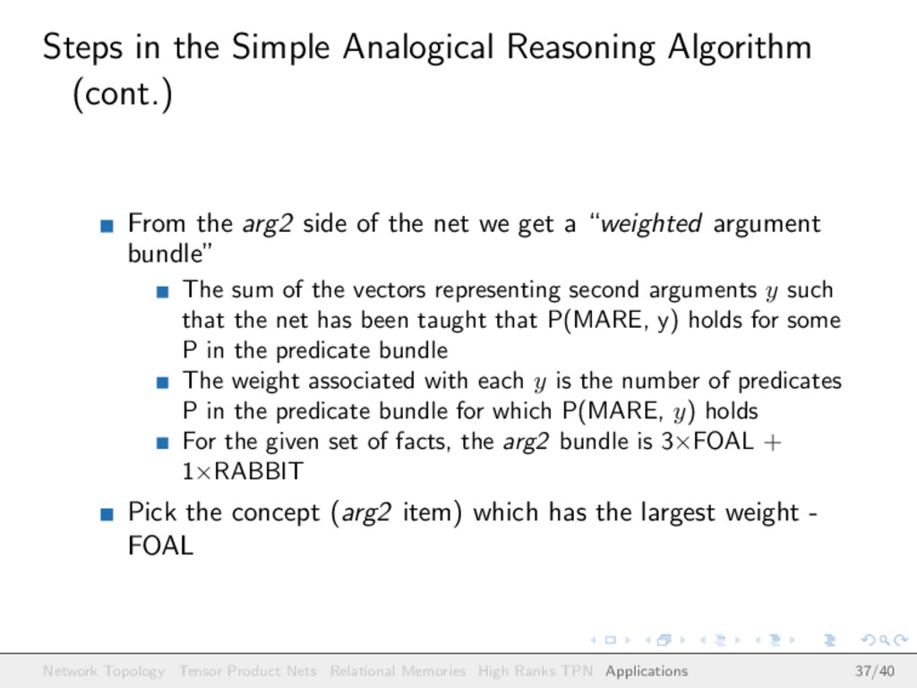 Steps in the Simple Analogical Reasoning Algori...