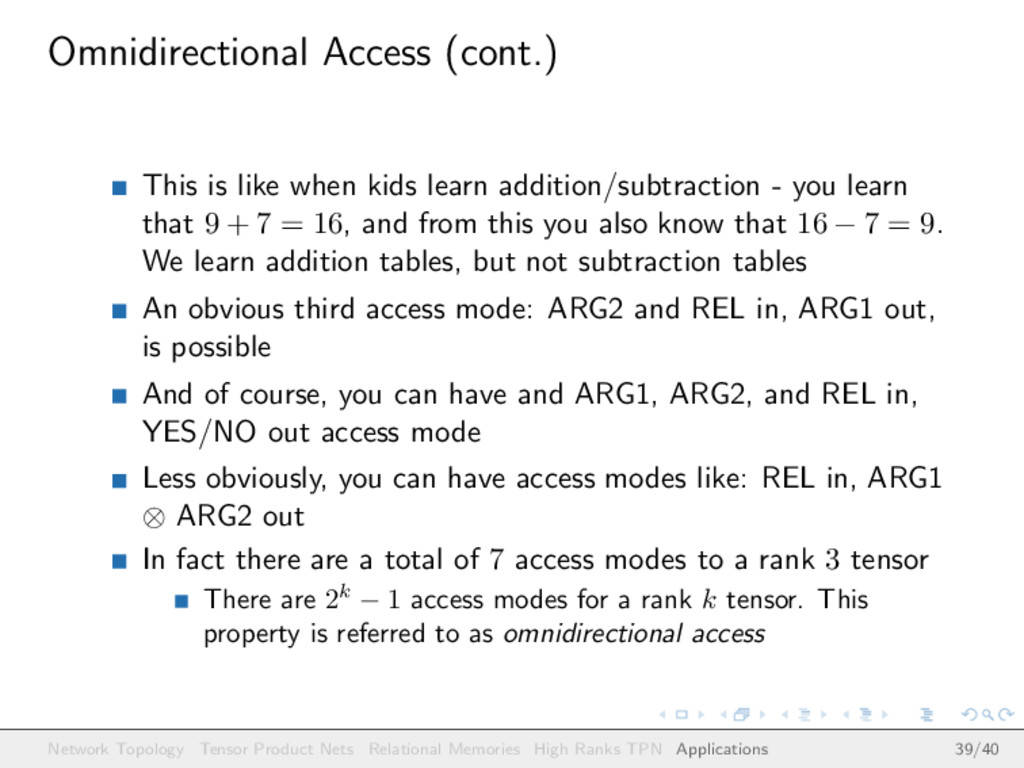 Omnidirectional Access (cont.) This is like whe...