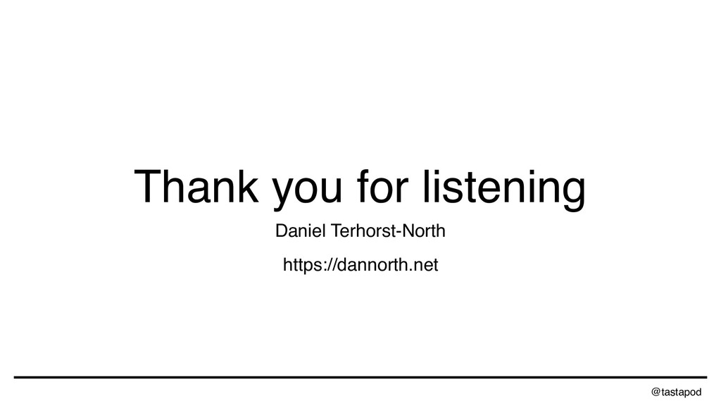 @tastapod Thank you for listening Daniel Terhor...