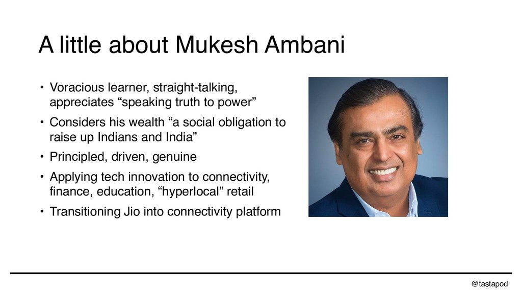 @tastapod A little about Mukesh Ambani • Voraci...