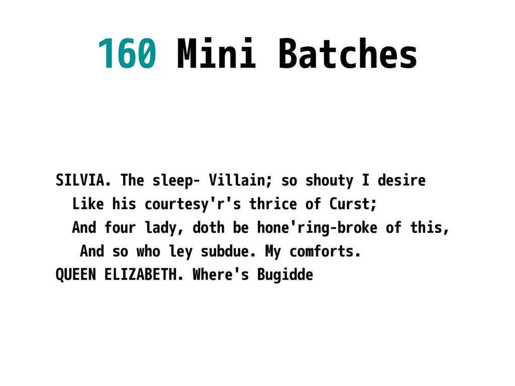 160 Mini Batches SILVIA. The sleep- Villain; so...