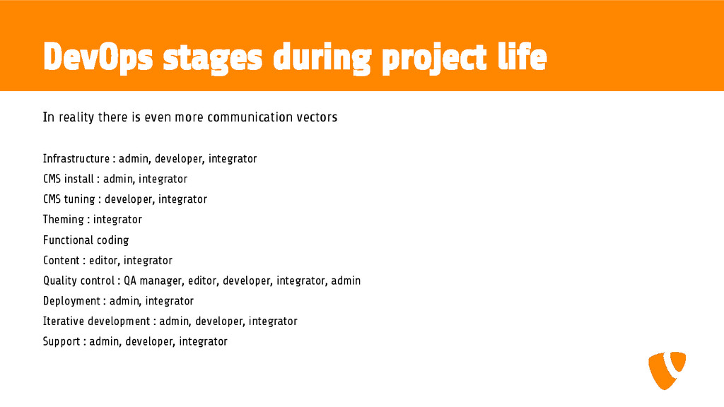 DevOps stages during project life In reality th...