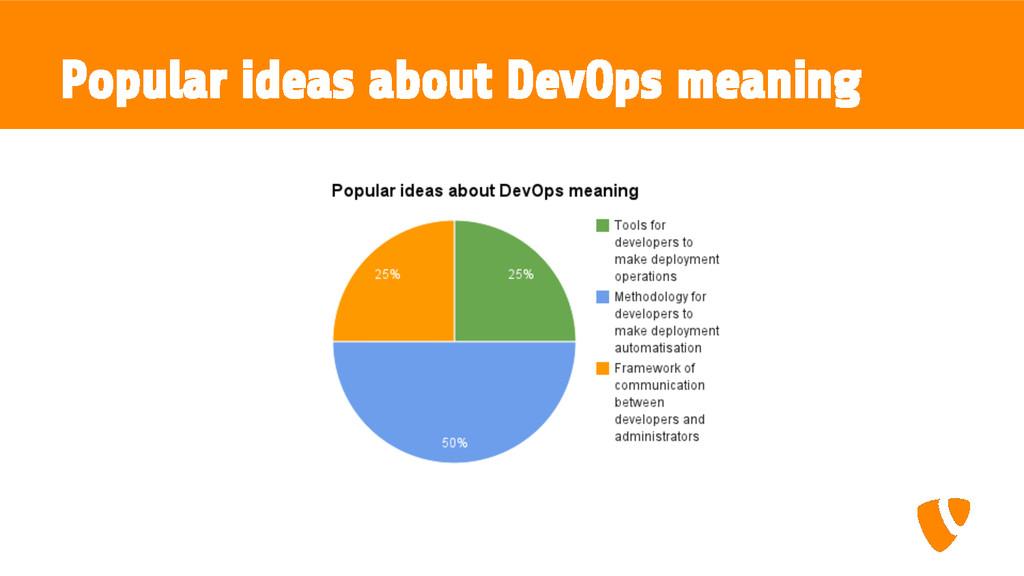 Popular ideas about DevOps meaning