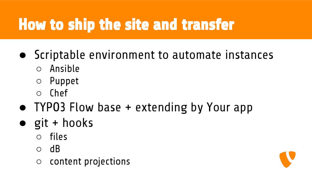 How to ship the site and transfer ● Scriptable ...