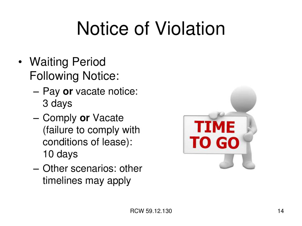 RCW 59.12.130 14 Notice of Violation • Waiting ...