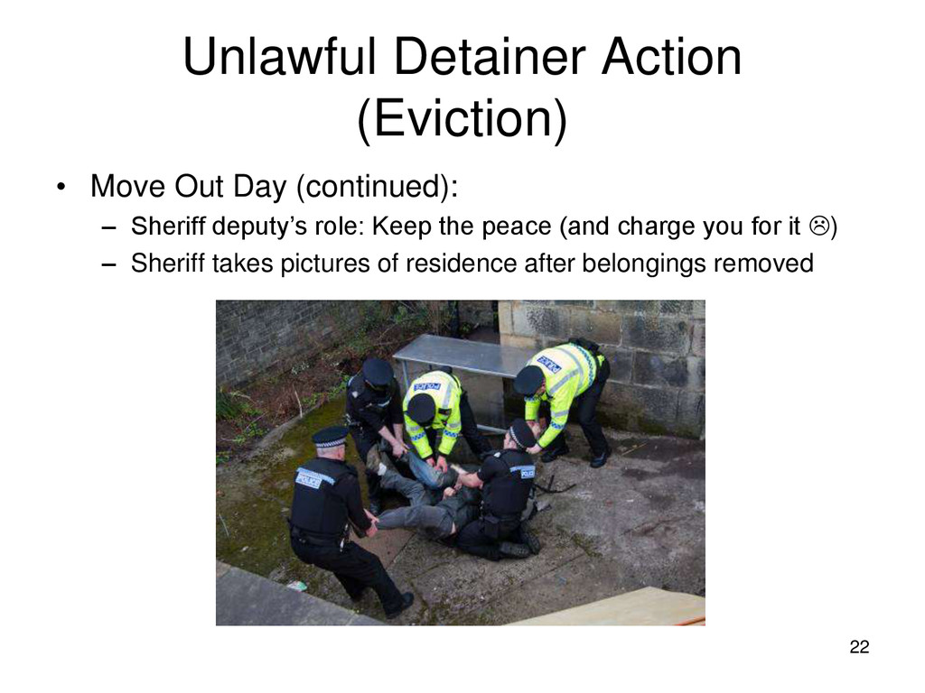 22 Unlawful Detainer Action (Eviction) • Move O...