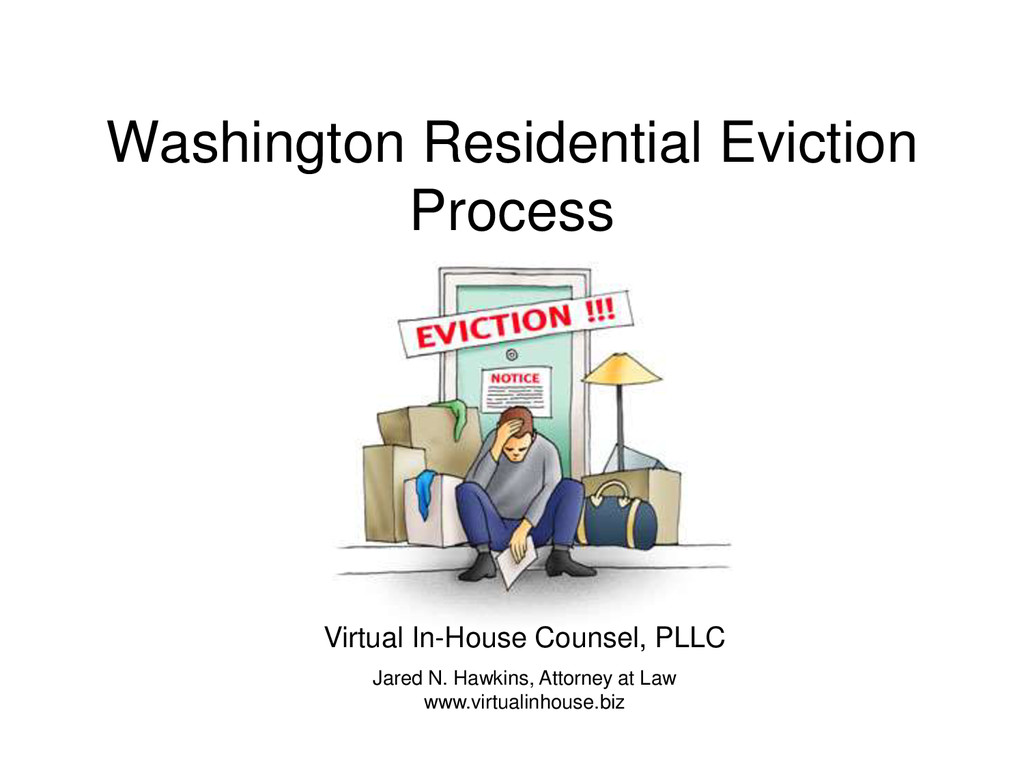 Washington Residential Eviction Process Virtual...