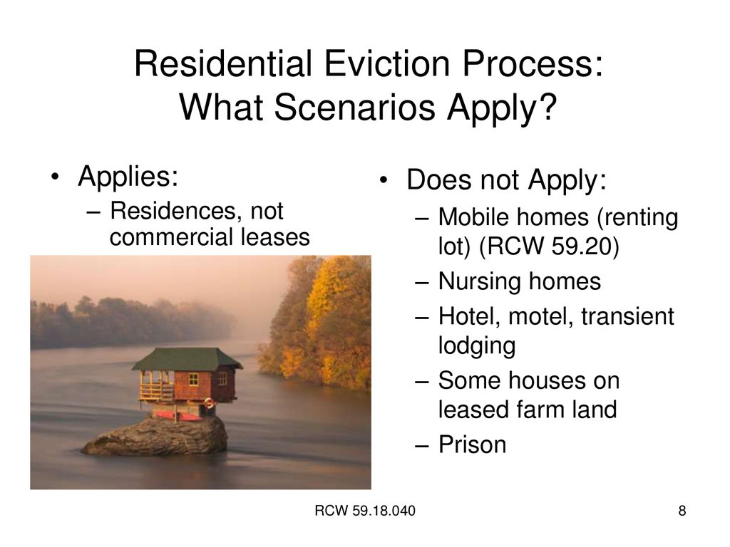 RCW 59.18.040 8 Residential Eviction Process: W...