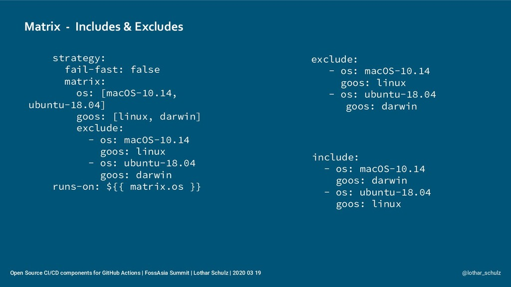 Matrix - Includes & Excludes @lothar_schulz Ope...