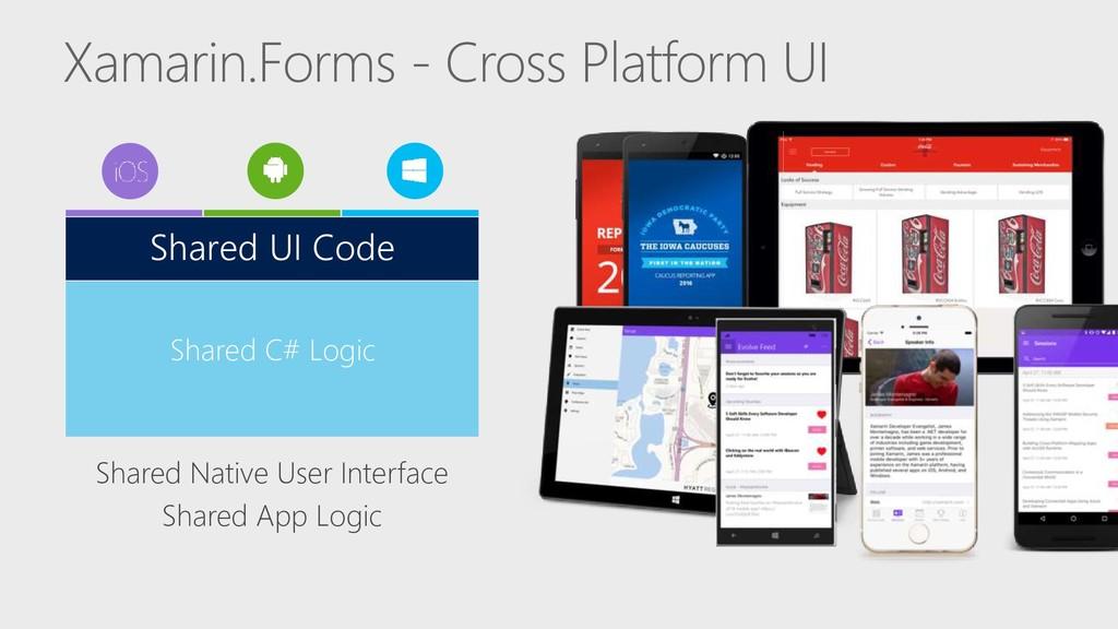 Xamarin.Forms - Cross Platform UI Shared Native...