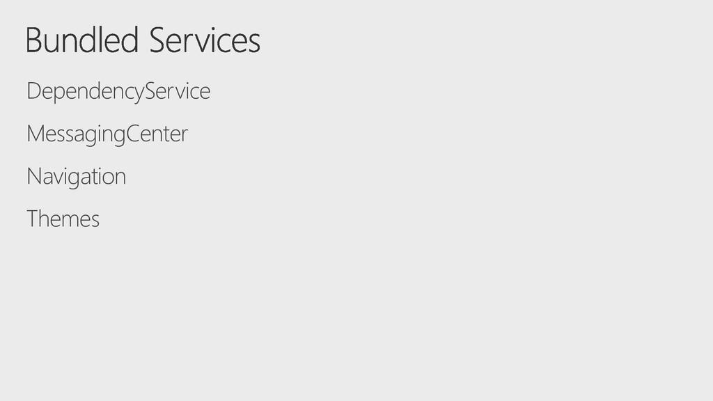 DependencyService MessagingCenter Navigation Th...