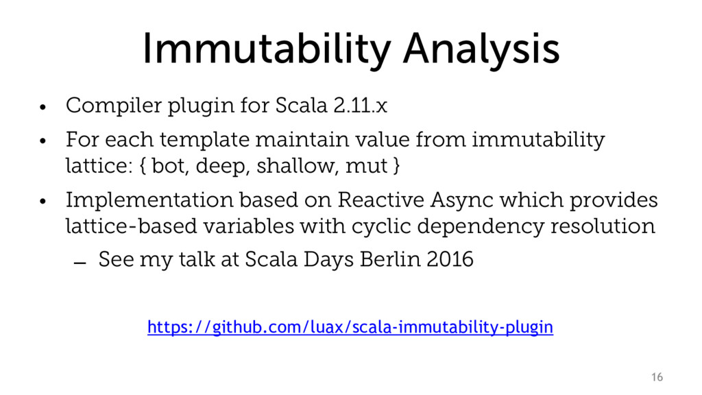 Immutability Analysis • Compiler plugin for Sca...