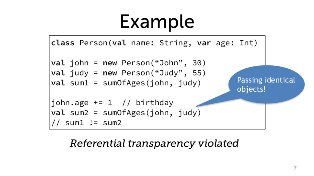 Example class Person(val name: String, var age:...