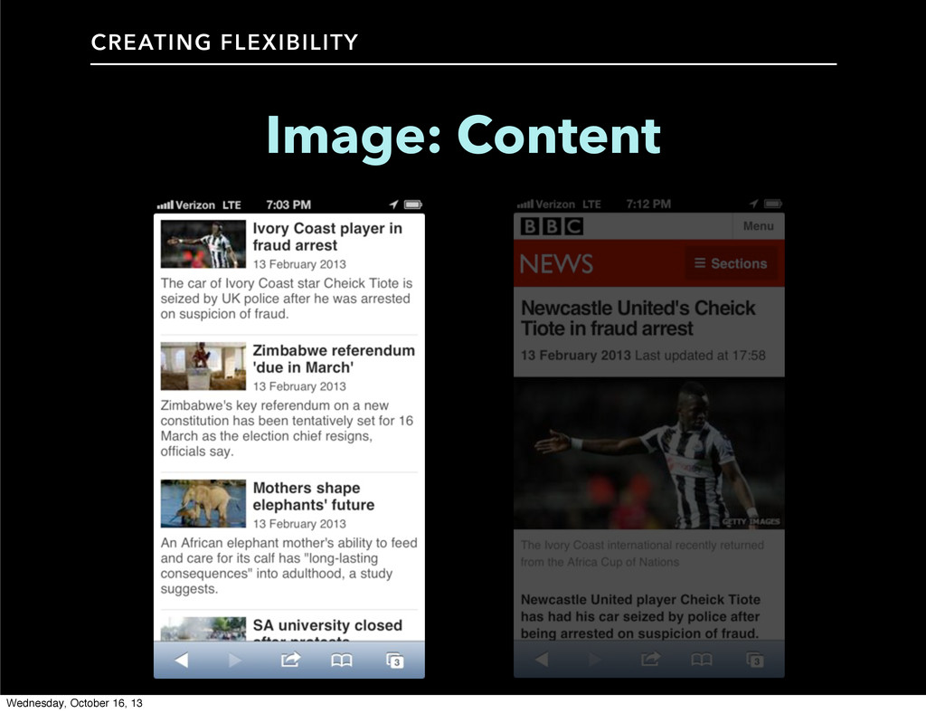 CREATING FLEXIBILITY Image: Content Wednesday, ...