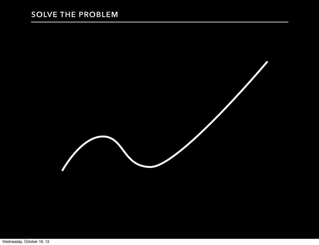 SOLVE THE PROBLEM Wednesday, October 16, 13