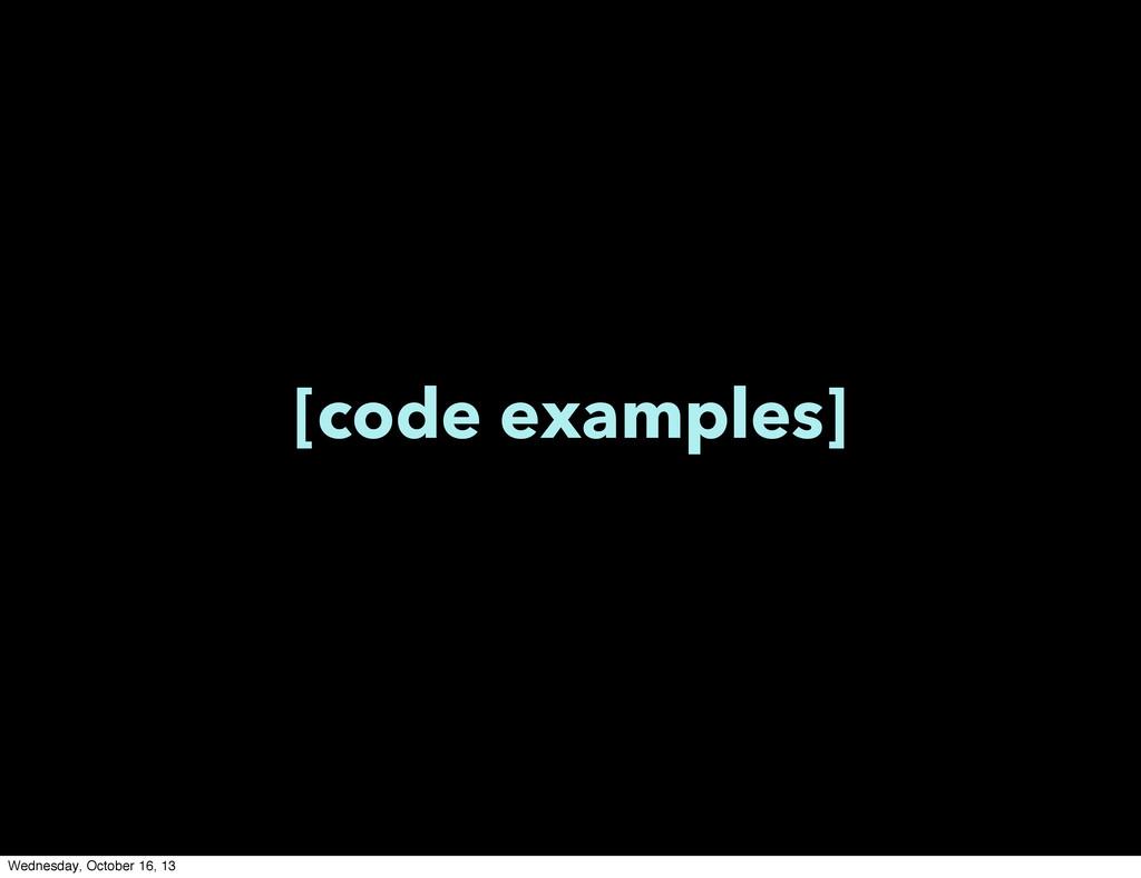 [code examples] Wednesday, October 16, 13