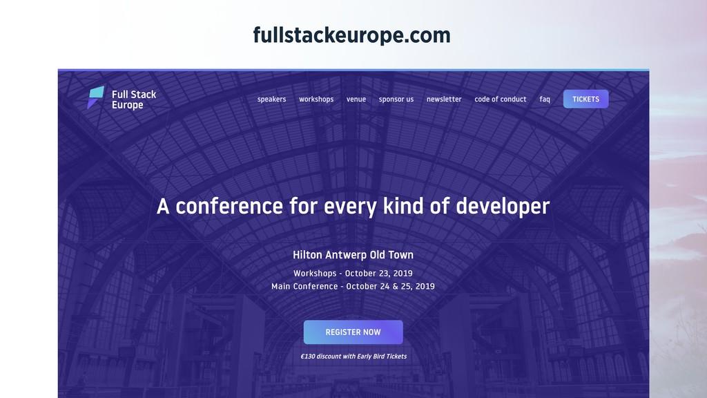 fullstackeurope.com