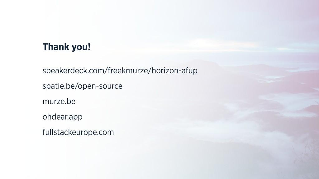 Thank you! speakerdeck.com/freekmurze/horizon-a...