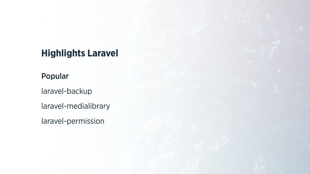 Highlights Laravel Popular laravel-backup larav...