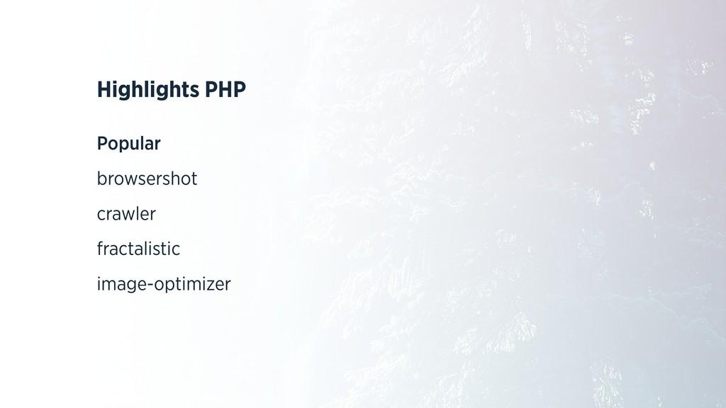 Highlights PHP Popular browsershot crawler frac...