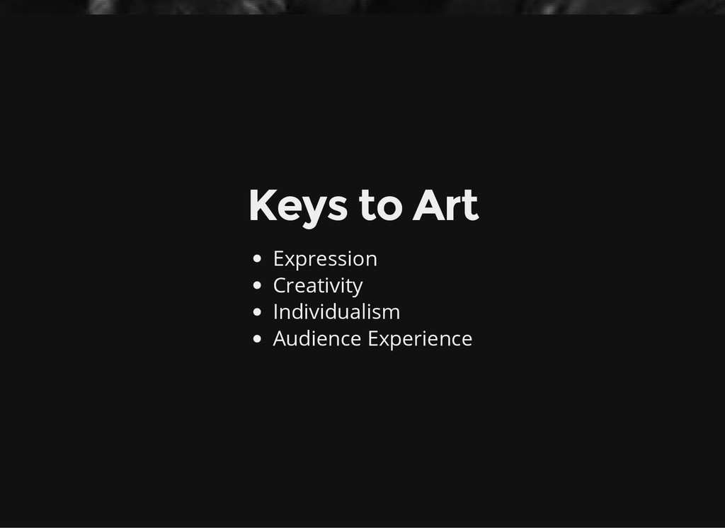 Keys to Art Expression Creativity Individualism...