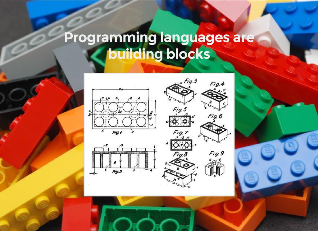 Programming languages are building blocks
