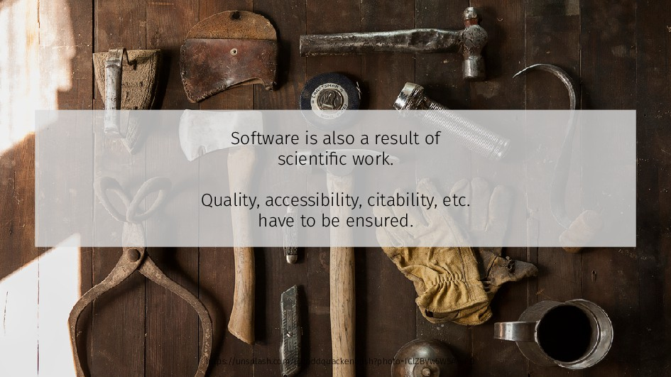 Software is also a result of scientific work. Q...