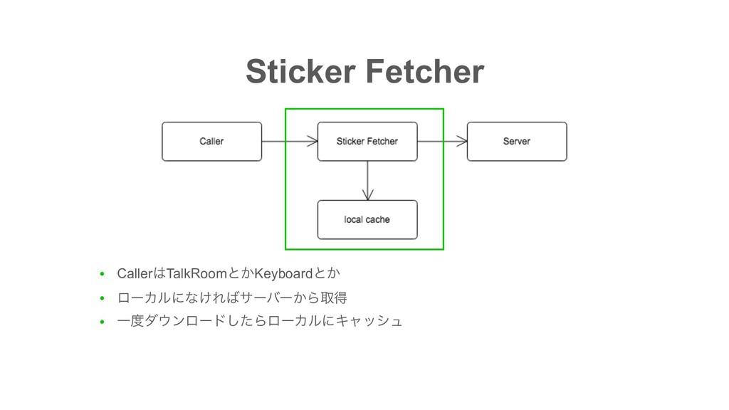 Sticker Fetcher ● CallerTalkRoomͱ͔Keyboardͱ͔ ●...