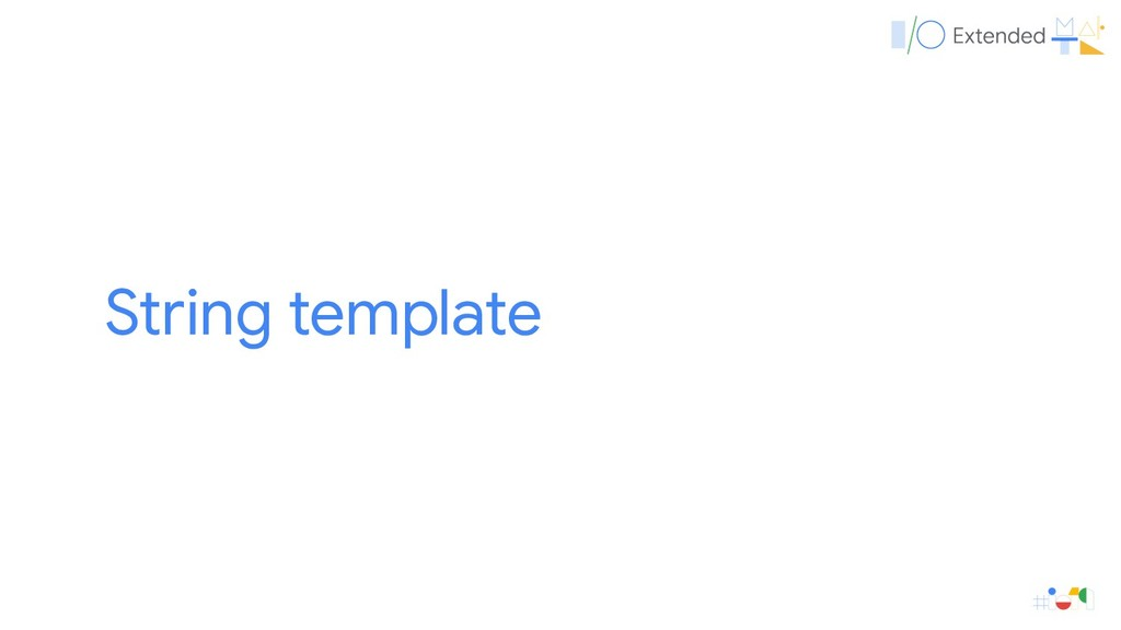 String template