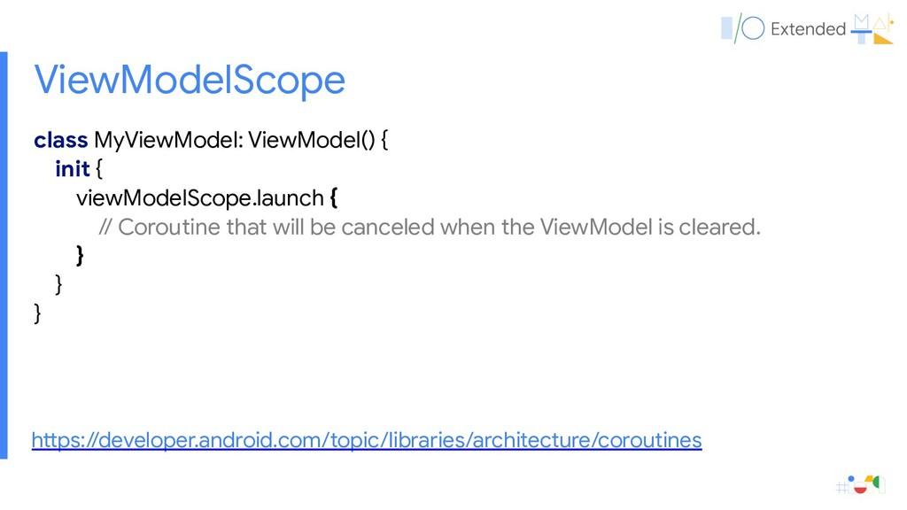 class MyViewModel: ViewModel() {  init {  viewM...