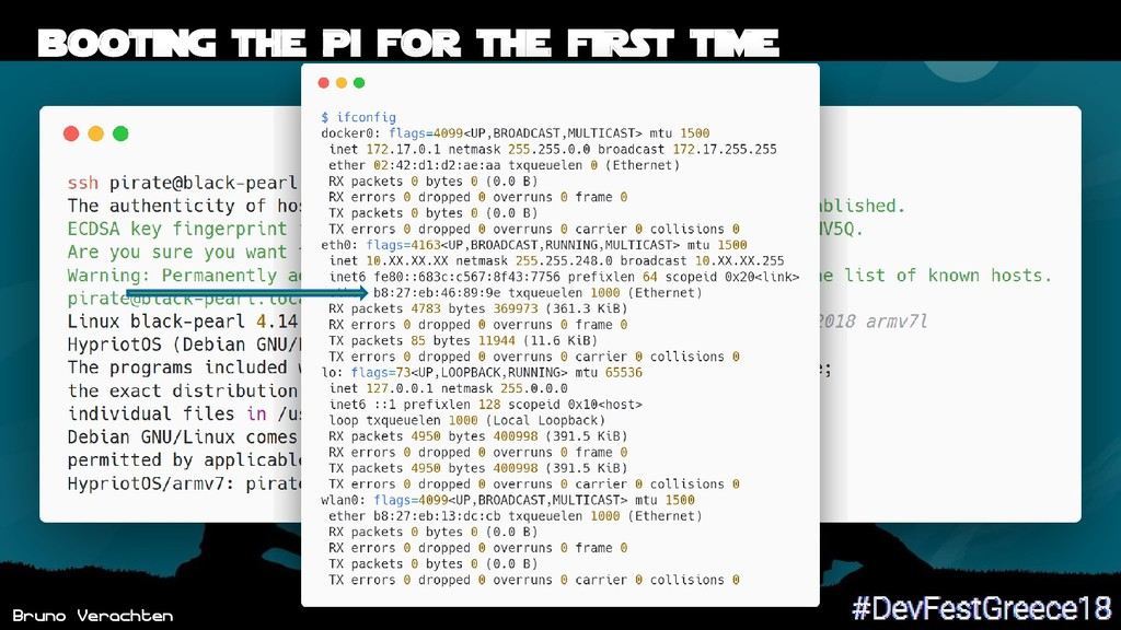 Bruno Verachten 42 Booting THE Pi for the first...