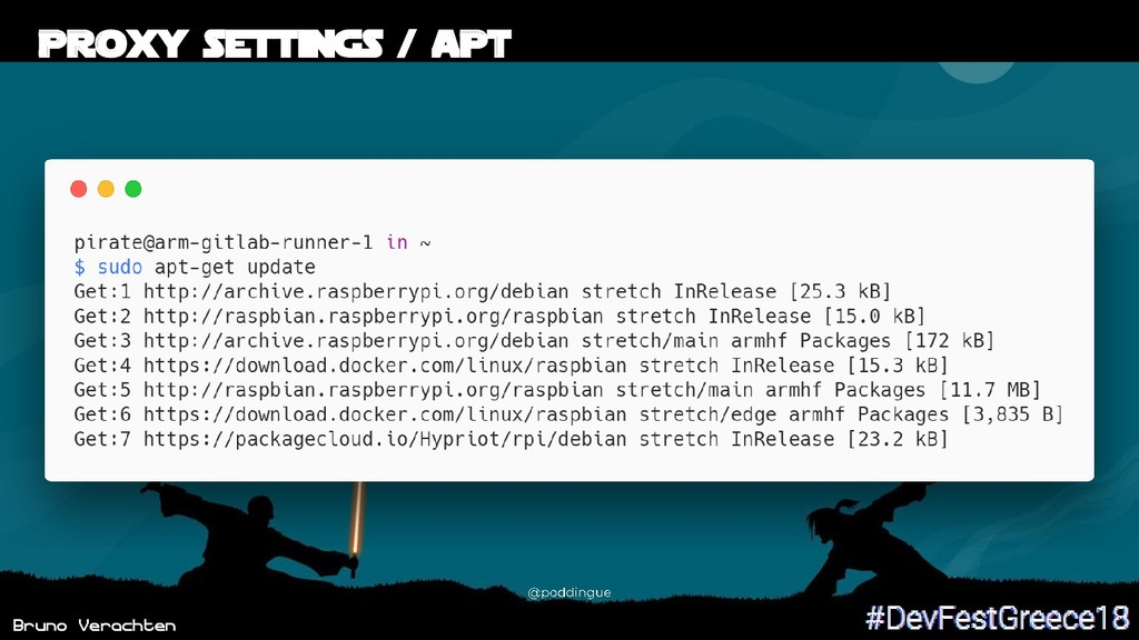 Bruno Verachten 45 Proxy settings / APT