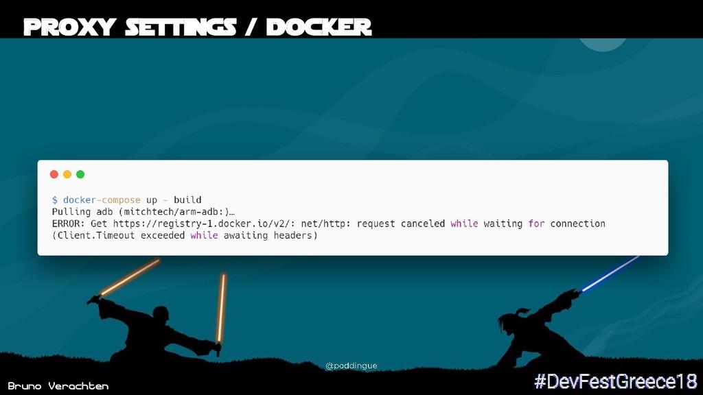 Bruno Verachten 46 Proxy settings / Docker