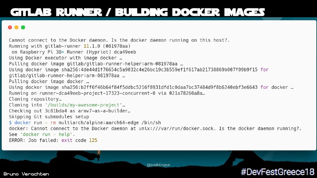 Bruno Verachten 50 Gitlab runner / building Doc...