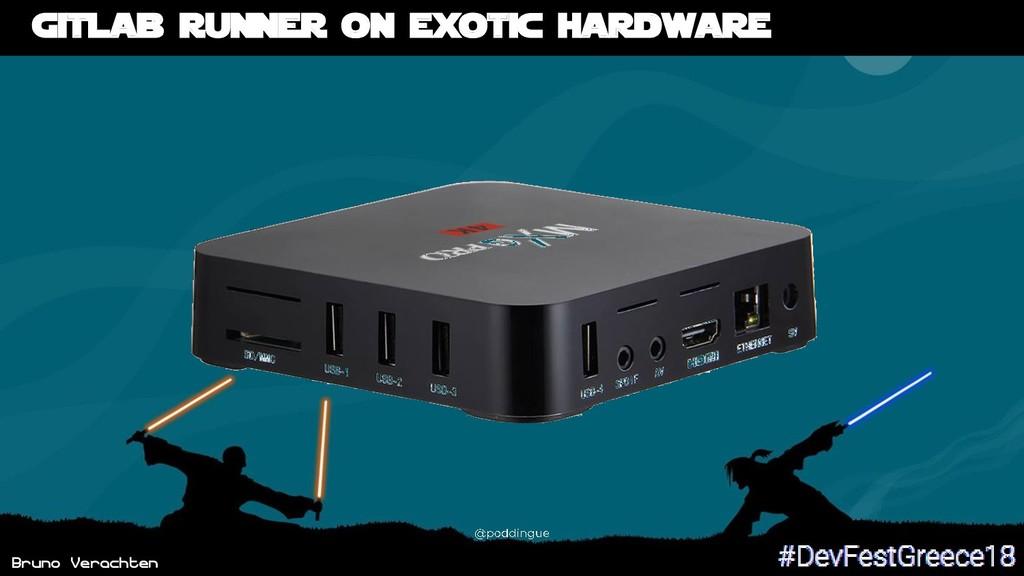 Bruno Verachten Gitlab runner on exotic hardware