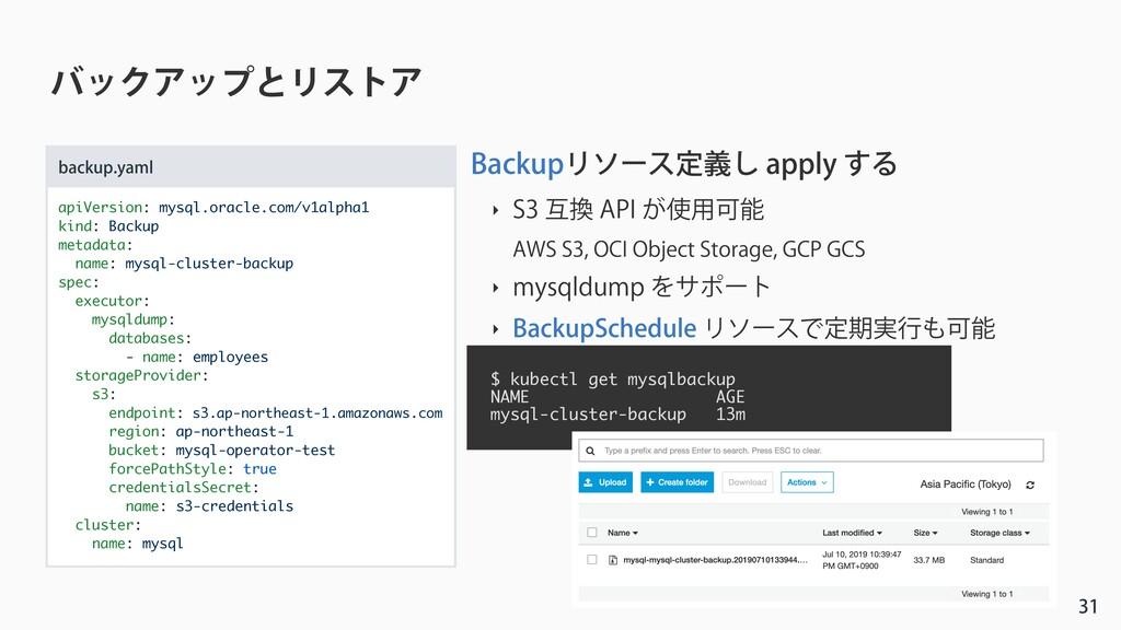 όοΫΞοϓͱϦετΞ apiVersion: mysql.oracle.com/v1a...