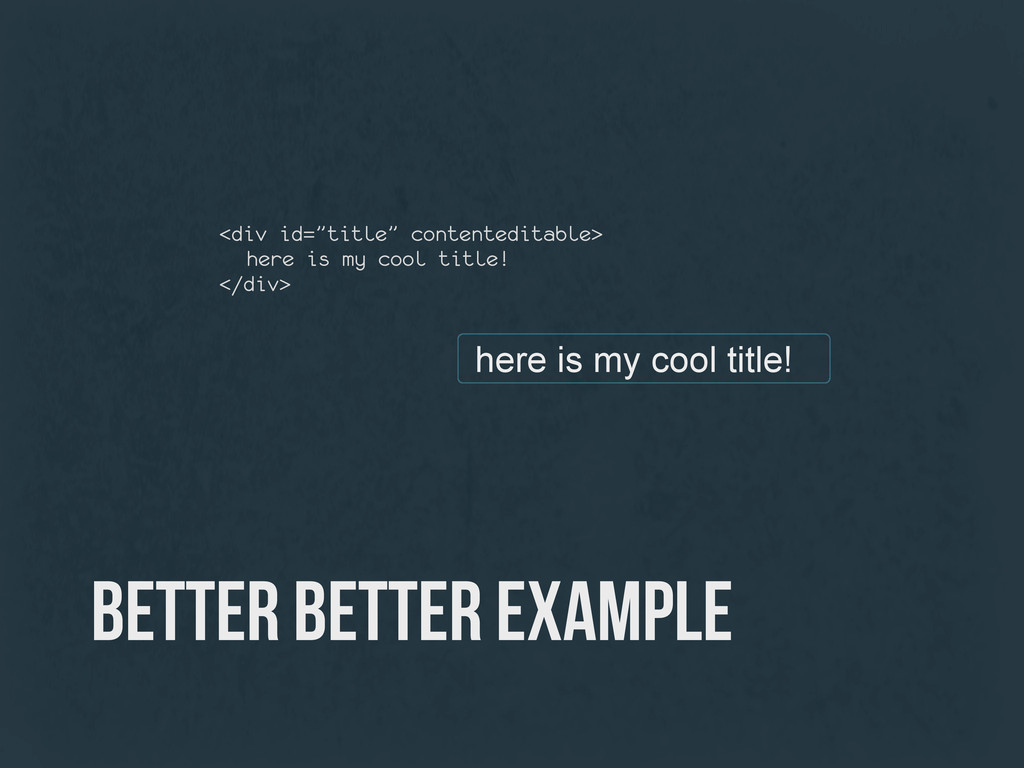 better better example here is my cool title! <d...