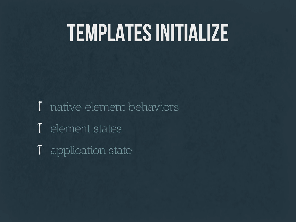 templates initialize native element behaviors e...