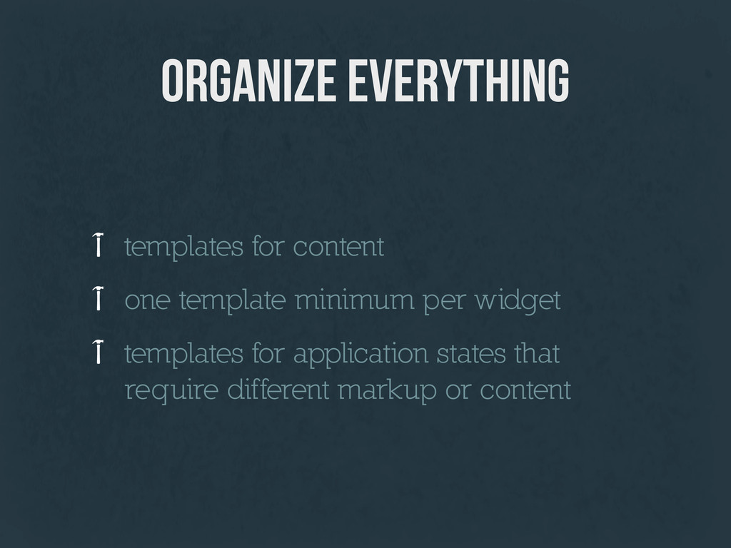 organize everything templates for content one t...